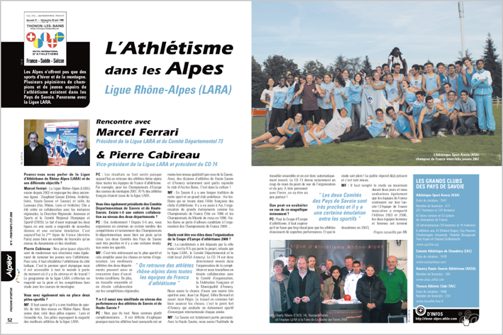 ALPEO 4 Article athletisme Alpes