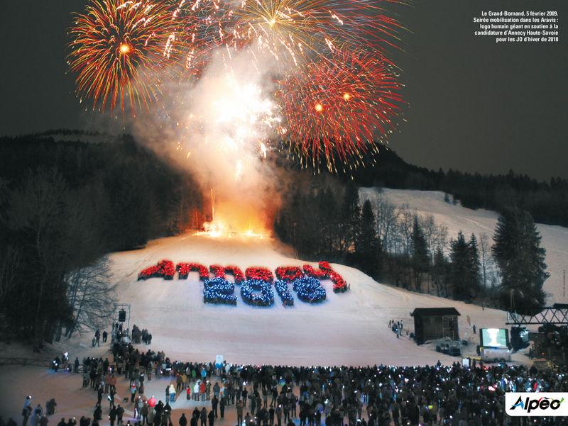 Logo humain géant Annecy 2018