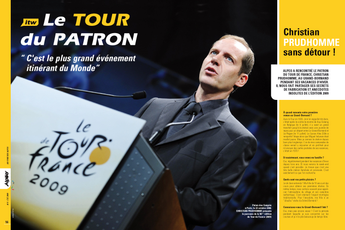 ALPEO 6 Itw Christian Prudhomme