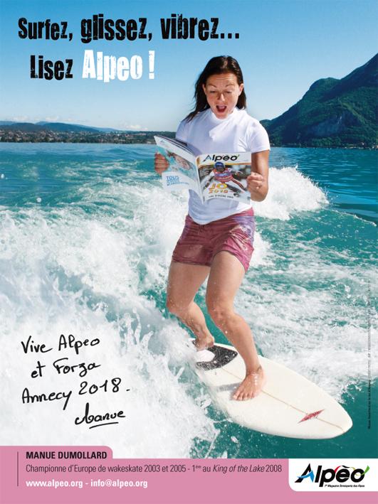 Affiche ALPEO wakesurf