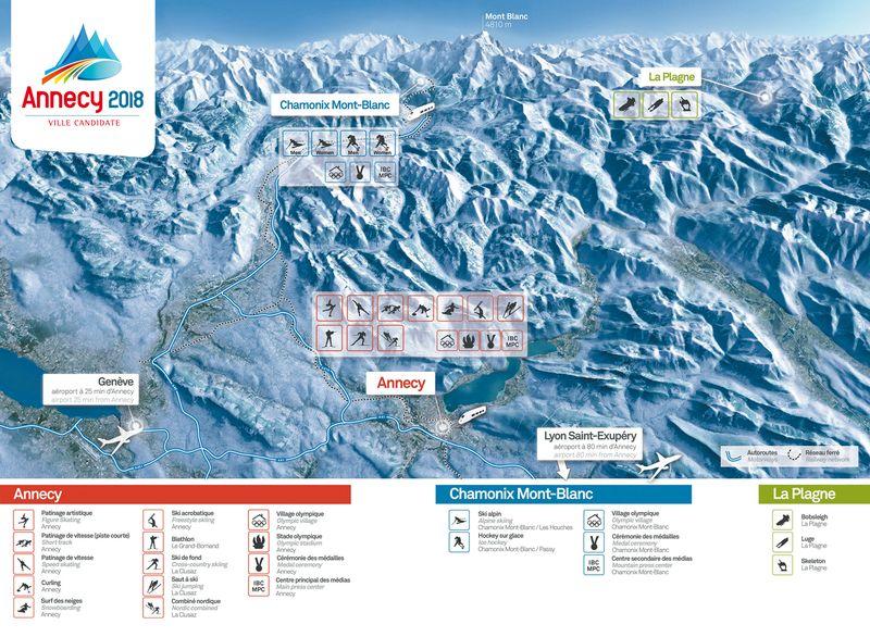 ALPEO Guide officiel Annecy 2018 carte des sites