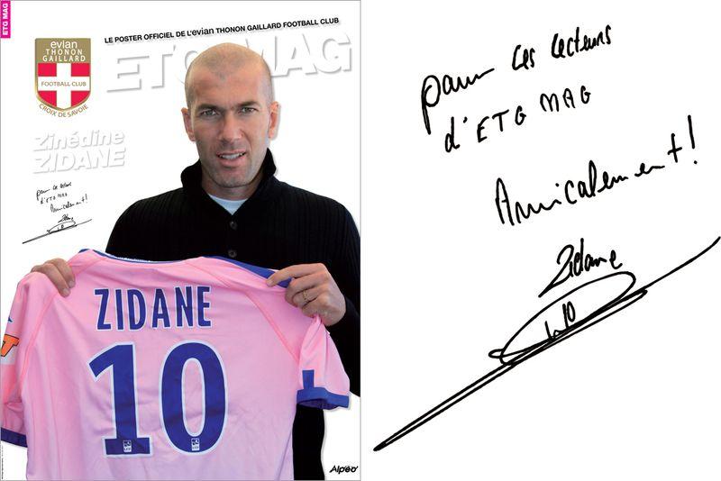 ETG MAG Zidane Poster dedicace