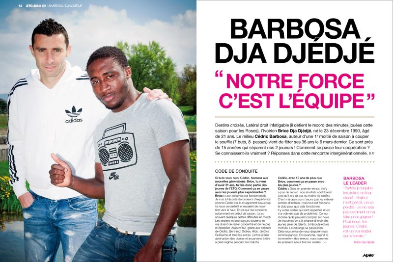 ETG MAG 3 Interview Barbosa Dja Djedje