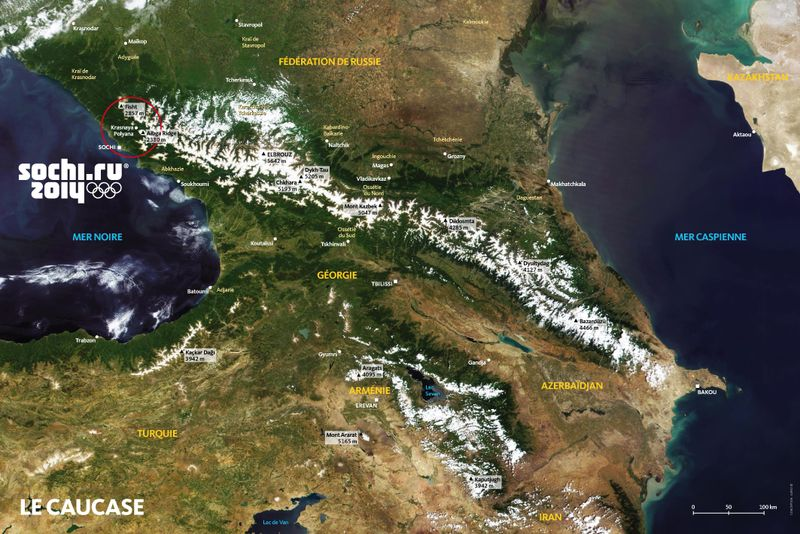 ALPEO Guide Sochi 2014 Carte du Caucase