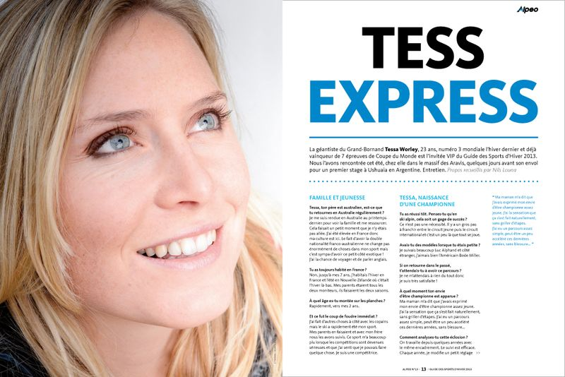 ALPEO GSH 2013 Interview Tessa Worley