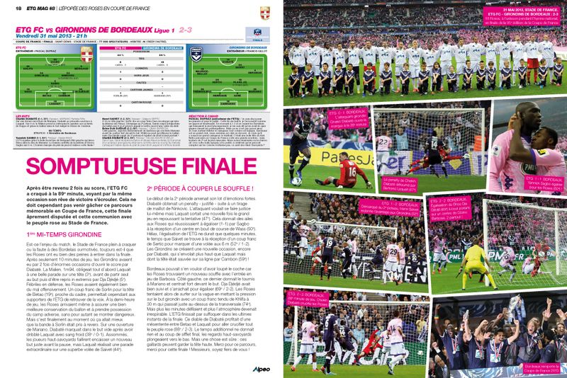 ETG MAG 8 Coupe de France Finale