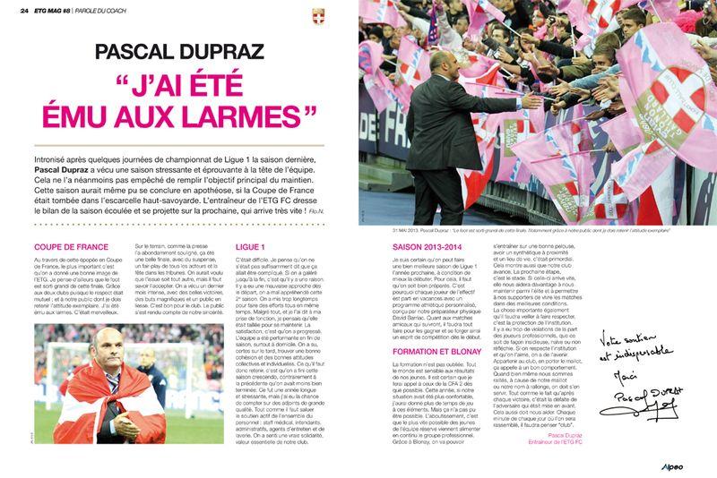 ETG MAG 8 Pascal Dupraz