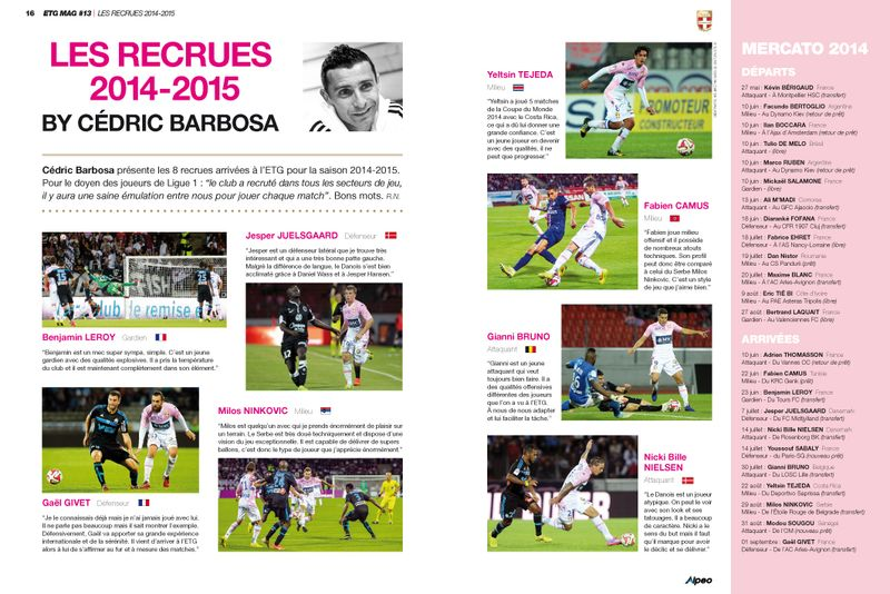 ETG MAG 13 ALPEO Recrues par Barbosa