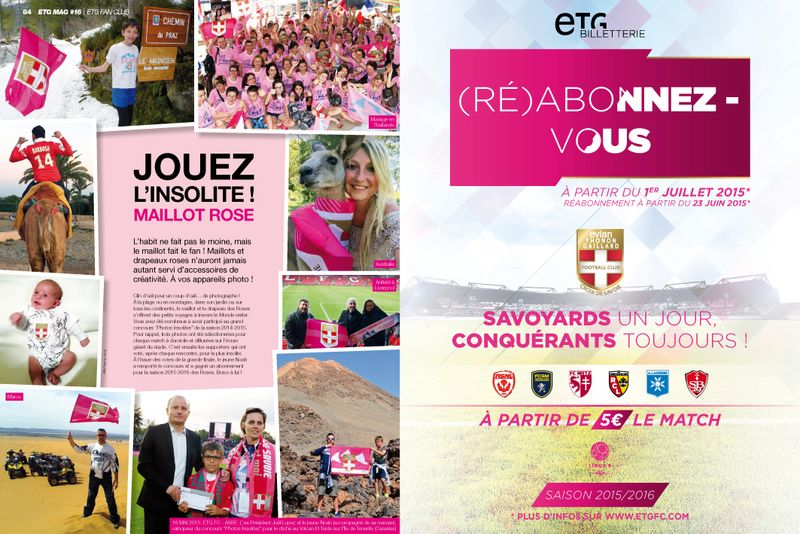 ETG MAG 16 Insolite maillot rose ALPEO